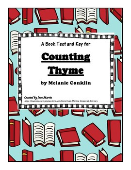 Counting Thyme by Melanie Conklin: A Book Test & Key created by Jean Martin