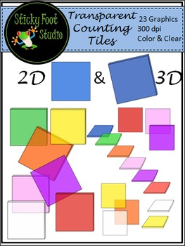 Counting Tiles Clip Art For Math - Transparent