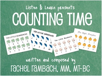 Counting Time: Songs + 70-Page Visual Aide Book for Counting to 10