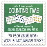 Counting Time: Songs + 70-Page Visual Aide Book for Counti