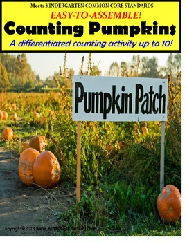Counting To 10 In The Pumpkin Patch Interactive Activity {Autism}
