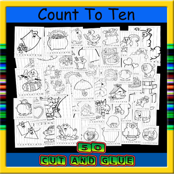 Counting To Ten Puzzles- (50) With Preview