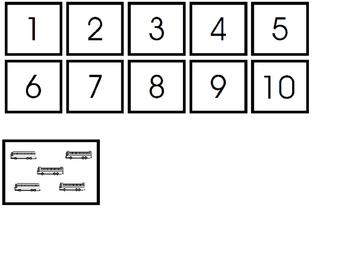 Counting Transportation 1-10 File Folder Activity