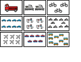 Counting Transportation 1-10 File Folder Activity