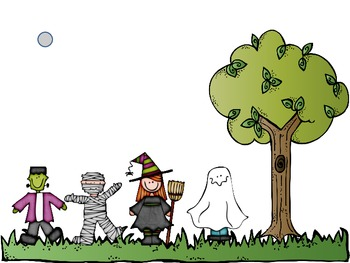 Interactive Counting Trick or Treaters Notebook