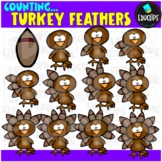 Counting Turkey Feathers Clip Art Bundle  {Educlips Clipart}