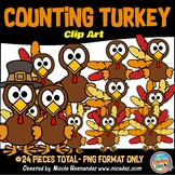 Counting Turkey Feathers (1 -10) Clip Art for Teachers