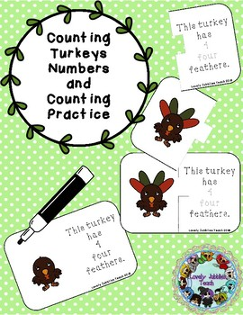 Counting Turkey Feathers Numbers and Counting Practice 0-10