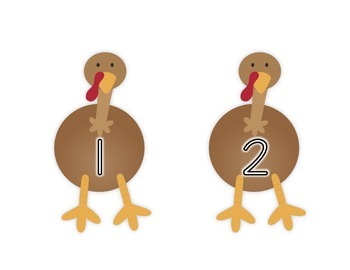 Counting Turkeys 1-20
