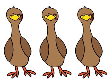 Counting Turkeys- Math Sentence Math Center