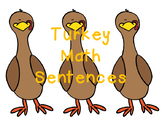 Counting Turkeys- Math Sentence Math Center