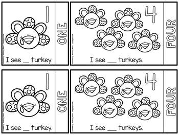 Counting Turkeys Number Flip Book