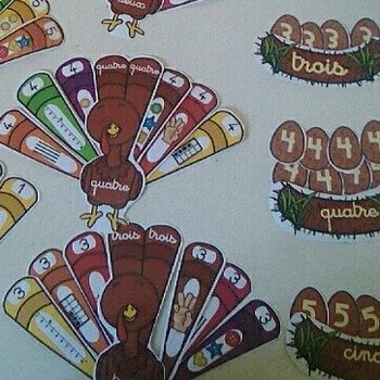 Counting Turkeys Preschool Math (numbers to 5)
