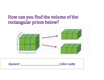 Counting Unit Cubes Volume PowerPoint