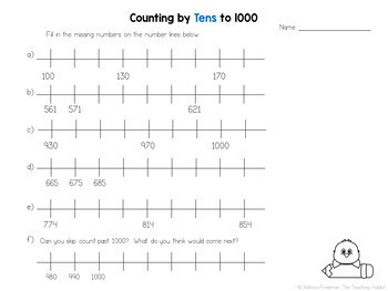 Counting Unit for Grade 3 (Ontario Curriculum)