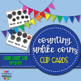 Counting Unlike Coins Clip Cards - Dollar Sign only
