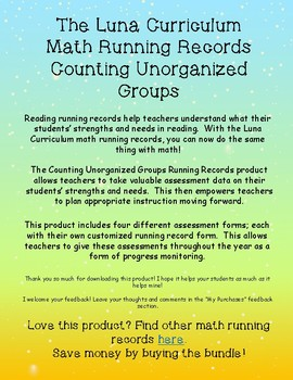 Counting Unorganized Groups - Math Running Record