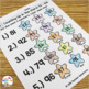 Counting Up From 76 - 100 Worksheet Set - K.CC.2