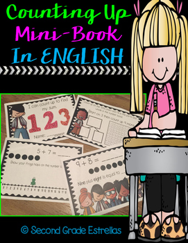 Counting Up Mini-Book in ENGLISH (Sums to 20)