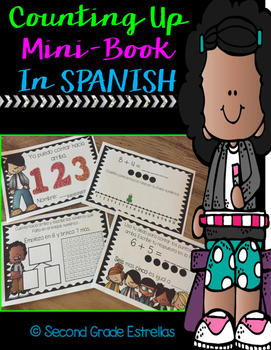 Counting Up Mini-Book in SPANISH (Sums to 20)