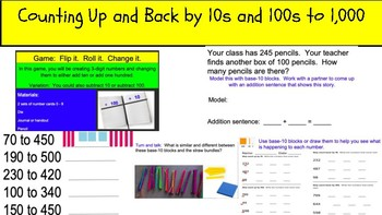 Counting Up and Back By 10s and 100s