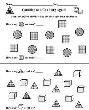 Counting Up and Down PLUS Counting and Counting Again (10 Worksheets)
