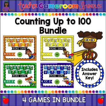 Counting Up to 100 Mini Powerpoint Game Bundle