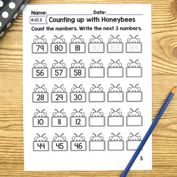 Counting Up  with Honey Bees - K.CC.2