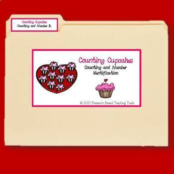 File Folder Games for Valentine's Day Counting Activities