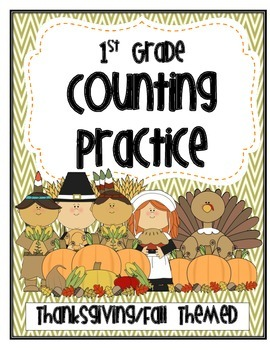 Counting Warm-ups & Workshop Sheets for 1st Grade-- Harvest Themed