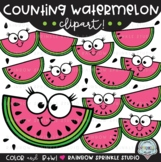 Counting Watermelon Clipart
