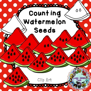 Counting Watermelon Seeds Clip Art