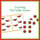 Counting Watermelon Seeds File Folder Game