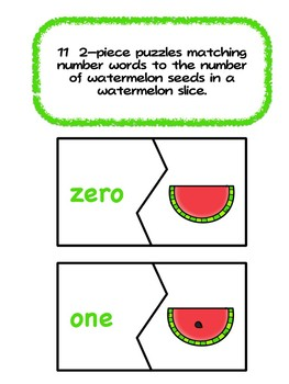 Counting Watermelon Seeds - Summer Counting Fun 0-10