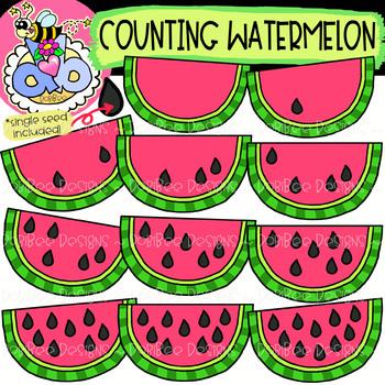 Counting Watermelon: Summer Clipart {DobiBee Designs}