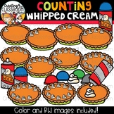 Counting Whipped Cream Clipart {Pumpkin Pie Clipart}
