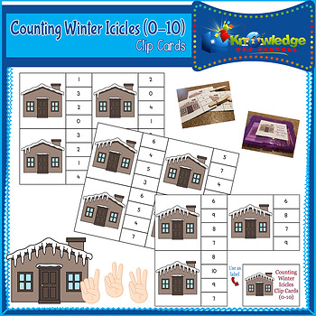 Counting Winter Icicles Clip Cards (0-10)