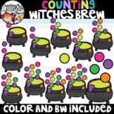 Counting Witches Brew Clipart {Halloween Clipart}