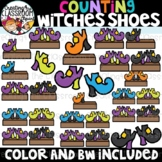 Counting Witches Shoes Clipart {Halloween Clipart}