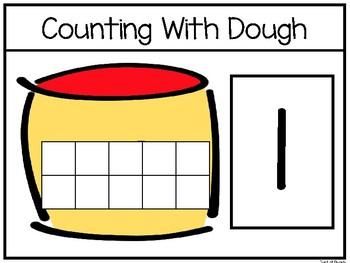 Counting With Dough Work Mats. Numbers 1-10. Preschool-Kindergarten Math.