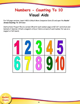 Counting With My Friends - Eng./Spanish Bilingual Song and Lesson Materials