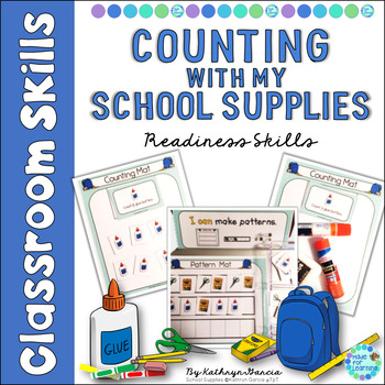Counting Assessment 1-20 School Supplies
