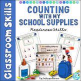 Back to School Counting Assessment 1-20 School Supplies