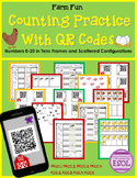 Counting With QR Codes- Tens Frames and Scattered Configurations {Farm Theme}