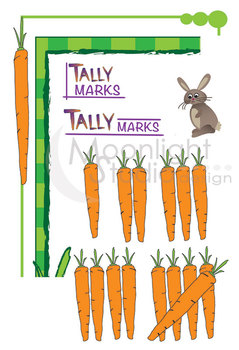 Learning to Count - on the Farm! Carrot Tally Marks Clip Art