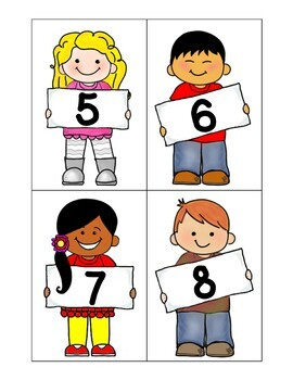 Counting With the People Parade-Multicultural children holding numbers 1-220
