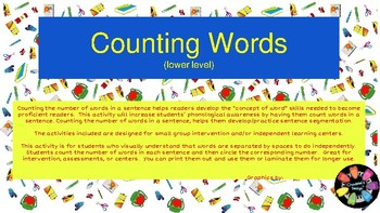 Counting Words (lower level)