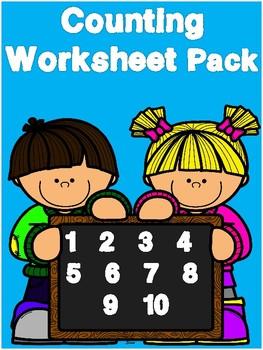 Kindergarten Counting Morning Work Worksheet Pack