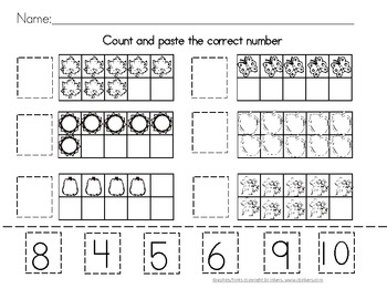 Counting Worksheet Tens Frames
