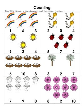 Counting Worksheets 1-10